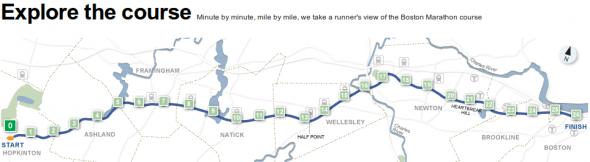 Explore The Boston Marathon Route