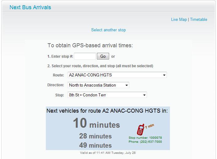 NextBus Bus GPS System Home