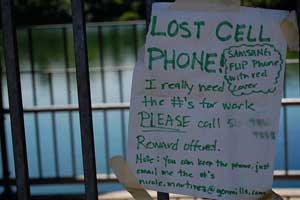 Lost Cell Phone No GPS Tracking