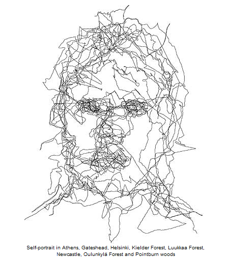 Self Portrait GPS Tracking Art