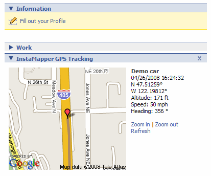 Instamapper GPS Tracking Map Facebook