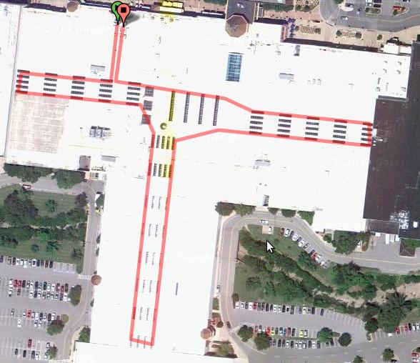 Endomondo Test Mall Walk Measurement