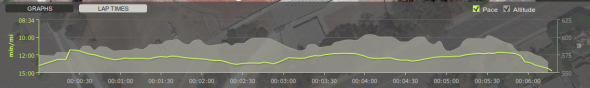 Endomondo Track Testing Pace Run Stats Graph
